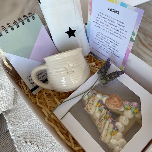 "Kit ""Letter Cake"" para regalo de Estudio Matilda"